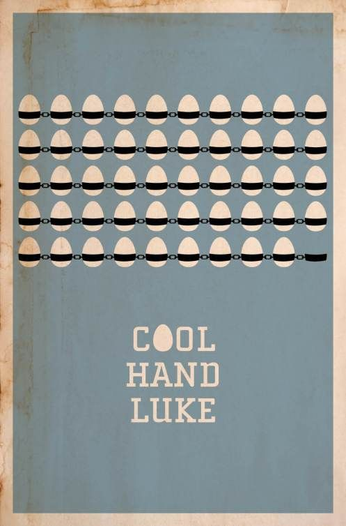 Minimalist #movie #poster for 'Cool Hand Luke' #Newman
