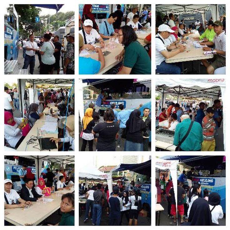 Giat Samsat Jakarta Barat melayani di kegiatan Car free
