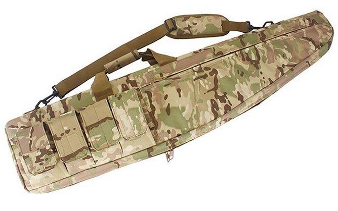 Přepravní taktické pouzdro - Přepravní taktické pouzdro pro dlouhou zbraň. Zapínání na zip, 4 vnější kapsy na zásobníky (suchý zip ) a 1 kapsa na doplňky ( na zip ) . Madlo na přenášení v ruce, popruh pro nošení na zádech . Ve vnitřní části molitanová vložka. Nové, nepoužité (pouze pro foto). Rozměry: délka 100 x šířka 32 * tloušťka 6 (cm). Cena včetně poštovného.https://s3.eu-central-1.amazonaws.com/data.huntingbazar.com/9236-prepravni-takticke-pouzdro-pouzdra-na-zbrane.jpg