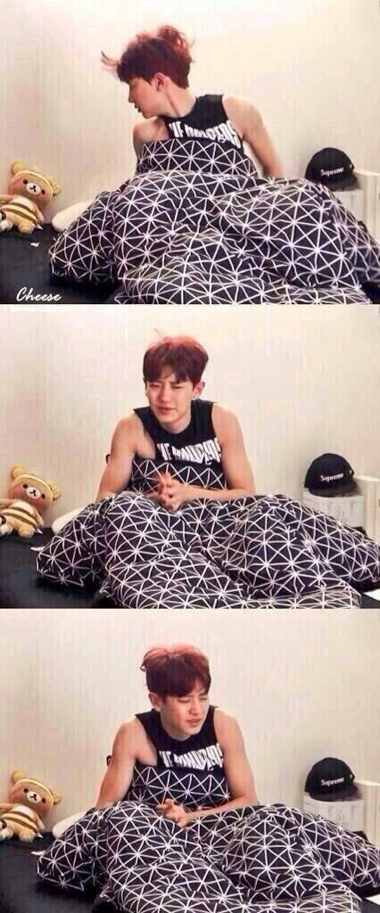 Oppa is too cute, imagine waking up next to this!!