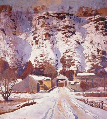 Snow at Harer's - Daniel Garber