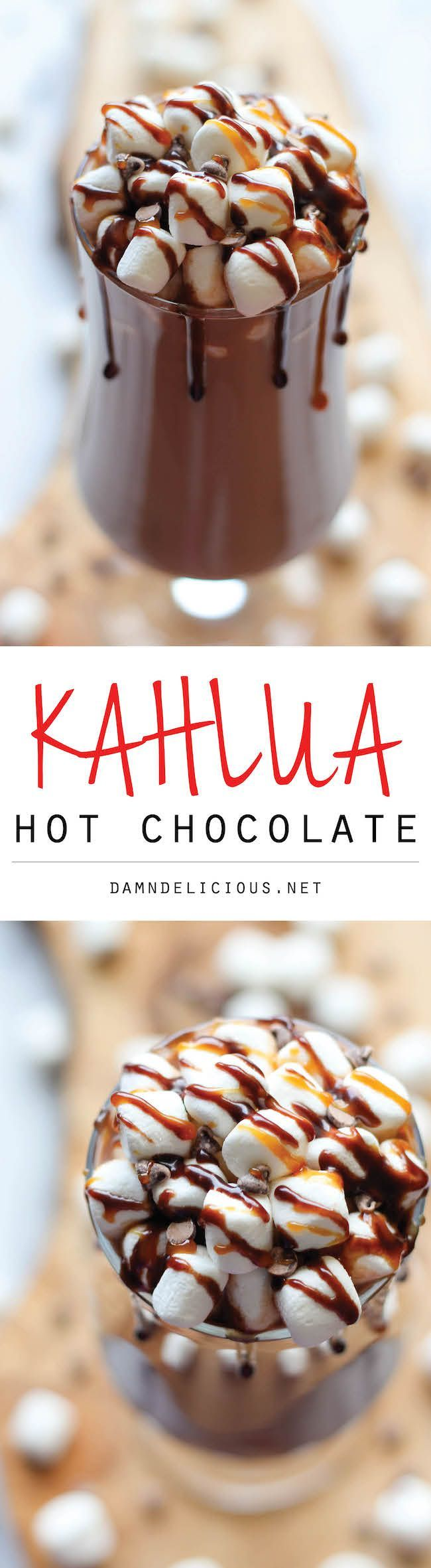 Kahlua Hot Chocolate - So cozy, so boozy, and so perfect for these chilly nights!