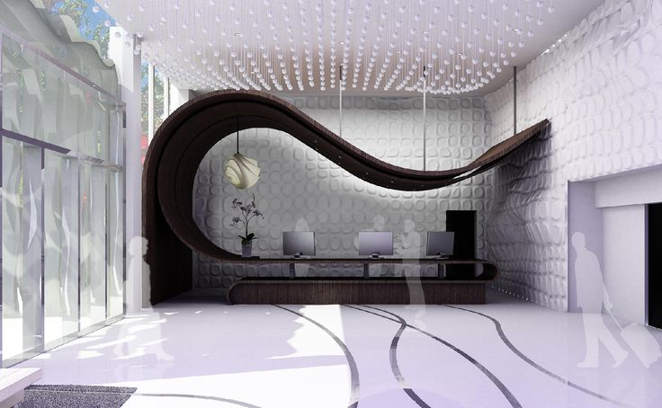 Reception desk designed by Tina Maleki
