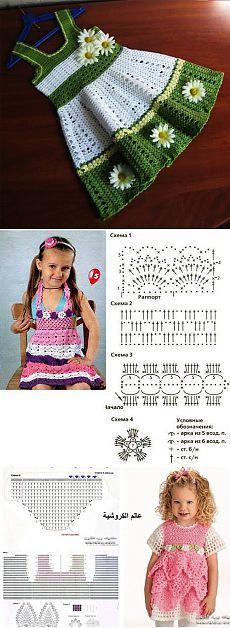 Летние детские платья крючком — схемы и фото | My Milady