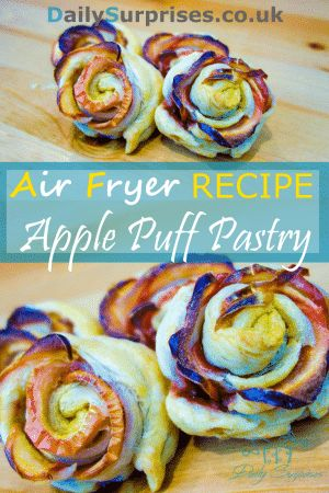 Rose shaped apple puff pastry