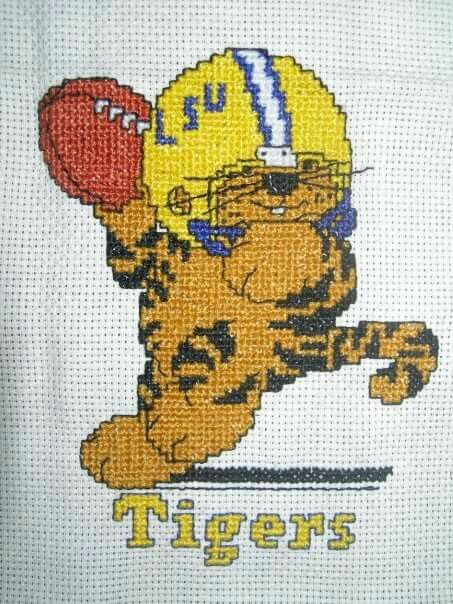 9 Best Images About Cross Stitch Tiger On Pinterest