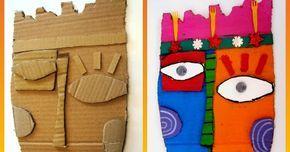 A LA MANERA DE KIMMY CANTRELL Material necessari: cartons reciclats prims i gruixuts llapis tisores cola blanca o cola tèrmica ...