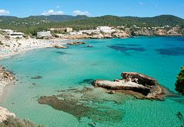 Cala Tarida Beach - 20 mins southwest by car from San Antonio or ferry from San Antonio