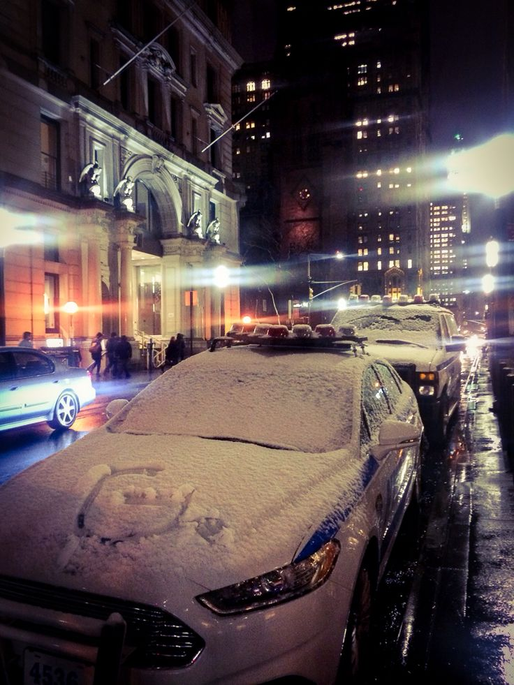 First snow in New York City ❤️