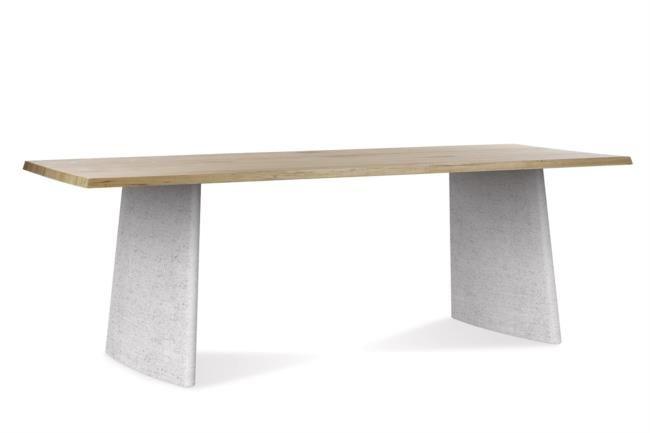 Tavolo in legno e cemento