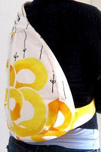 Slingback - Handgefertigter Schrägrucksack oder auch Crossbag. Passt sich super der Körperform an, vor allem auf dem Fahrrad.      This handmade Slingback looks good and fits very well, especially when cycling.