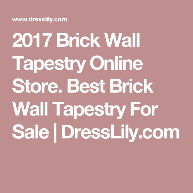 2017 Brick Wall Tapestry Online Store. Best Brick Wall Tapestry For Sale | DressLily.com