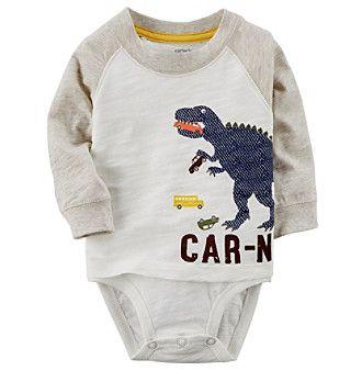 Carter's Baby Boys' Carnivore Double-Decker Bodysuit