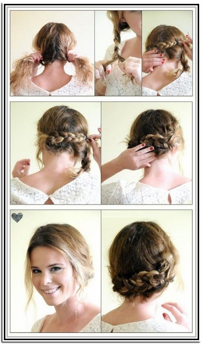 Easy Updos For Short Hair Tutorial