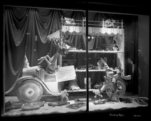 Christmas window display, Powers Department Store, Minneapolis, 1950. Photo by Norton & Peel. © Minnesota Historical Society. All rights reserved.