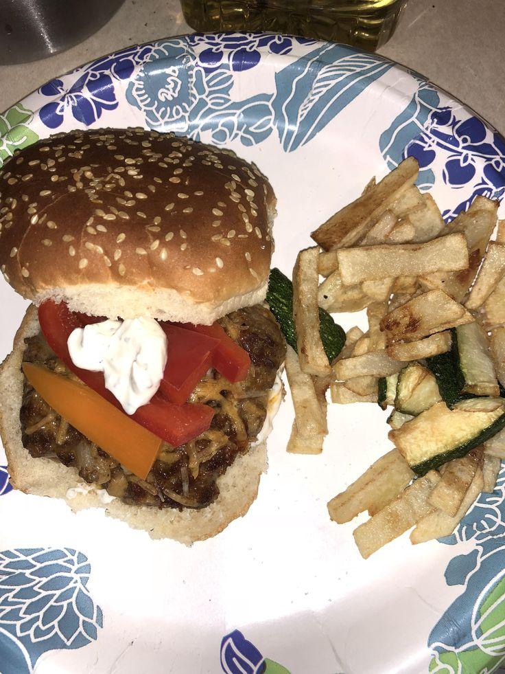 [Homemade] Taco Burgers (ground chuck onions garlic taco