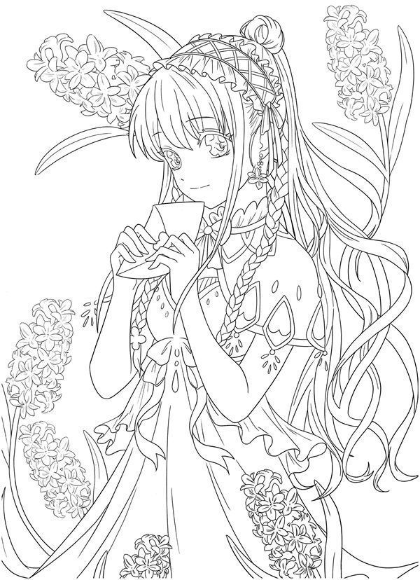 Download Tatacat Flower Fairy Dress Coloring Book Pdf Printable Hd Manga Coloring Book Coloring Books Fairy Coloring Pages
