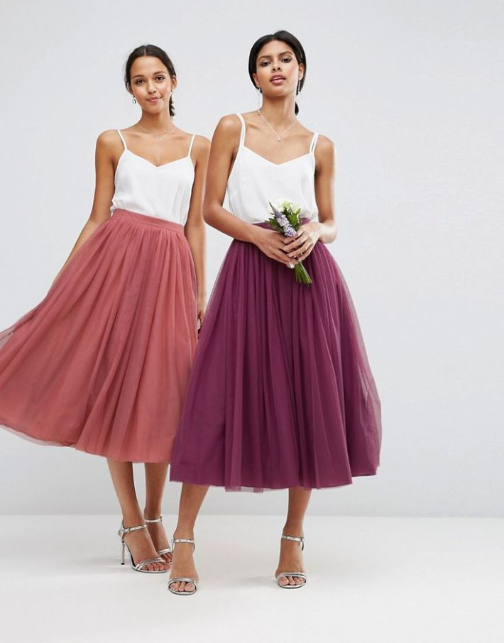 image 3 of asos wedding tulle prom skirt with multi layers hellip