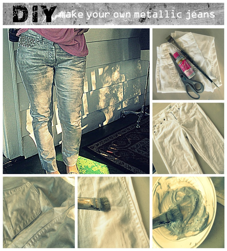 make your own metallic jeans