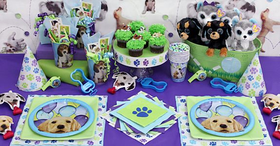 Puppy themed birthday supplies