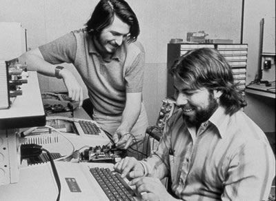 "Steve Wozniak/Steve Jobs ~ ""Apple was established on April 1, 1976 by Steve Jobs, Steve Wozniak, and Ronald Wayne, to sell the Apple I personal computer kit. They were hand-built by Wozniak and first shown to the public at the Homebrew Computer Club. The Apple I was sold as a motherboard (with CPU, RAM, and basic textual-video chips) – less than what is today considered a complete personal computer. The Apple I went on sale in July 1976 and was market-priced at…"""