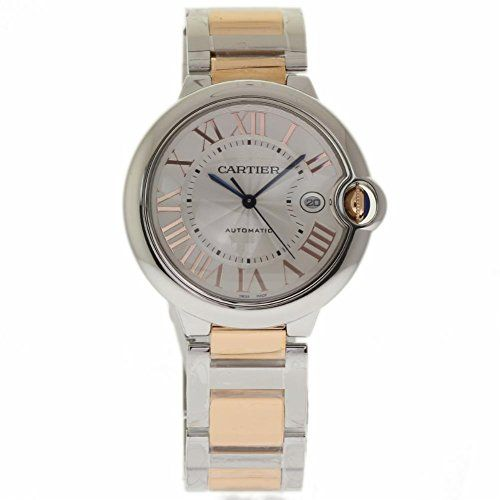Price:       (adsbygoogle = window.adsbygoogle || []).push();  Cartier Ballon Bleu De Cartier Silver Dial Stainless Steel and 18kt Pink Gold W6920095. Stainless steel case with a stainless steel with 18kt pink gold bracelet. Fixed stainless steel bezel. Silver dial with blue hands and...