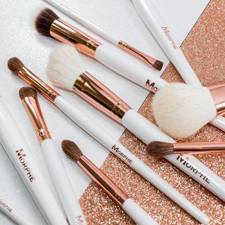 Morphe White + Rose gold brushes