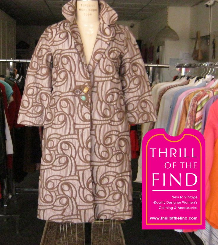 Hoss Intropia brocade coat never worn with real amethest stone clasp closure $345