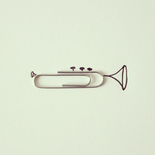 paper clip trumpet