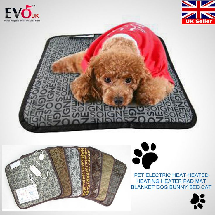Pet Electric Heat Heated Heating Heater Pad Mat Blanket Dog Cat Bunny Bed