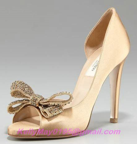 Replica VALENTINO COUTURE JEWELRY BOW D ORSAY GOLD,VALENTINO SHOES OUTLET,ACTUAL SHOES