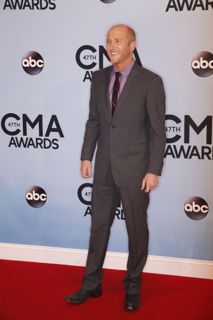 "Cole Swindell, Cole Swindell on the red carpet at ""The 47th Annual CMA Awards,"" live Wednesday, Nov. 6 at the Bridgestone Arena in Nashville… Suit altered by Seam in Nashville."