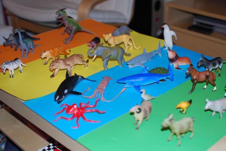In elke groep liggen ze wel; plastic dieren. Dit biedt veel mogelijkheden om spelend te leren. 20 keer spelen met plastic dieren 20keer spelen met plastic dieren 1. Hak en plak Laat de kinderen een dier bedenken waarvan ze de naam hakken en plakken. Zet (als je genoeg dieren hebt) voor elke klank het dier …