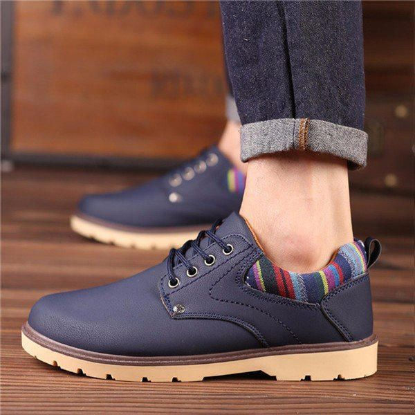 British Lace Up Round Toe Oxford Shoes For Men - US$34.99  #men #shoes #fashion