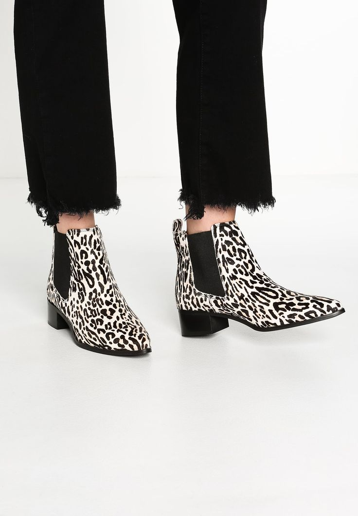 Topshop AMY-ROSE LEOPARD - Ankle Boot - brown - Zalando.de