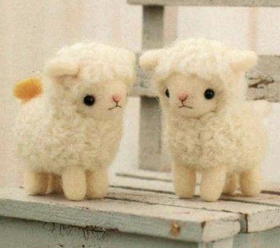 DIY handmade felt wool Sheep Friends Japanese kit by MeMeCraftwork, $20.00