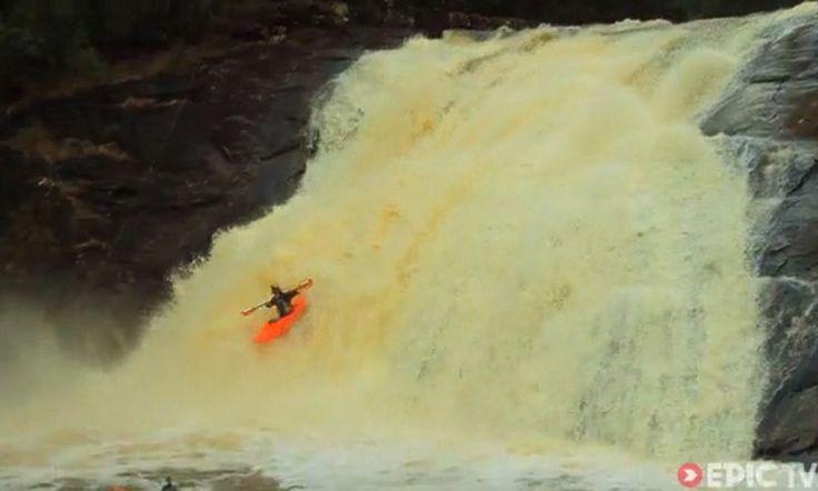 Kayaker captures Tasmania's stunning wild water rapids