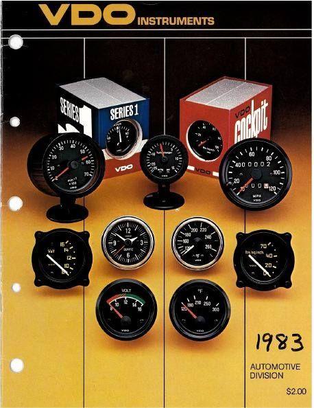 VDO gauges catalog cover circa 1983. Good design, good gauges, always.