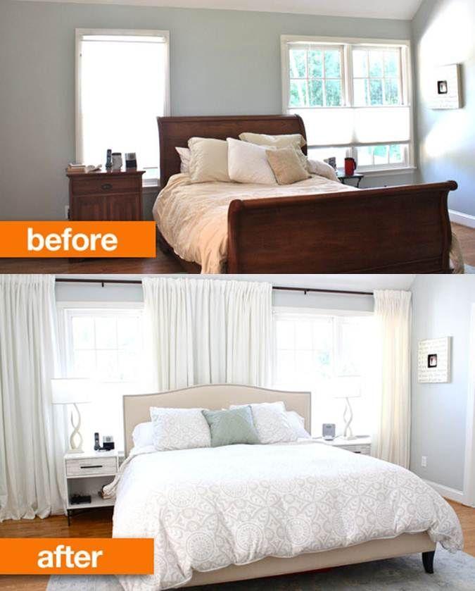 Image result for off center windows in bedroom