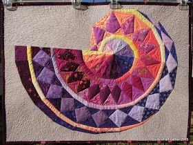 "Pythagorean Spiral, 28.5"" x 21""    This quilt was inspired, imagined, created and quilted last month between everything else I did.  But i..."