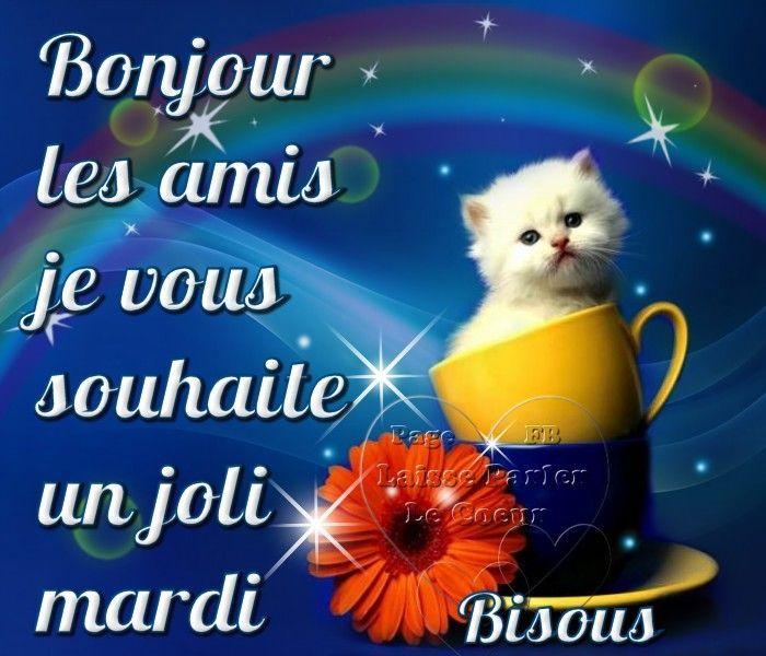 Mardi Image 7052 Bonjour Les Amis Je Vous Souhaite Un Joli