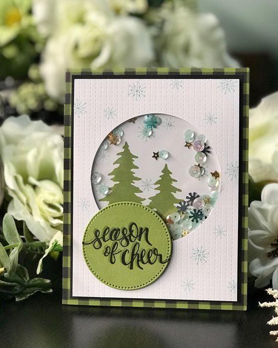 Скрапбукинг, рукоделие, Новогодние открытки-шейкеры