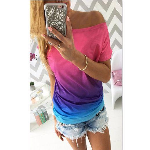 Rainbow t shirt colorful summer!