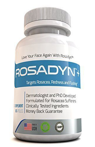 Product review for Rosadyn Rosacea Treatment Capsules - Effective Rosacea Care to Reduce Redness, Blemishes, Flushing and Ocular Rosacea - All-Natural Rosacea Skin Care Product for Men & Women - 60 Caps  - Combine the Best of Nature and Science to Heal Your RosaceaIf you are one of the over 45 million people suffering from embarrassing rosacea symptoms, including facial redness, broken capillaries, ocular rosacea, flushing, acne, blemishes and the low self-esteem associated we need proper…