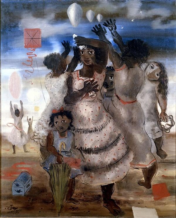 Group of girls(1940) - Oil on Canvas - Cândido Portinari.