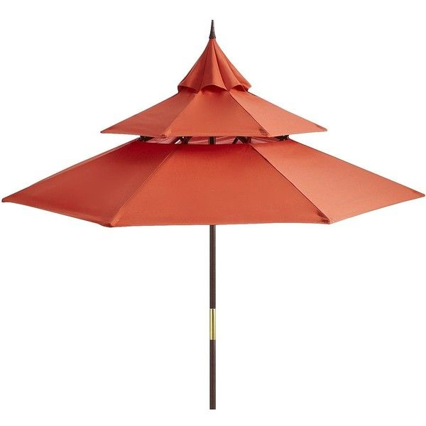 Pier 1 Imports Red Chili Pagoda Umbrella ($160) ❤ liked on Polyvore featuring home, outdoors, patio umbrellas, umbrella, decor, accessories, furniture, red patio umbrella, outdoor umbrella and outdoor patio umbrellas