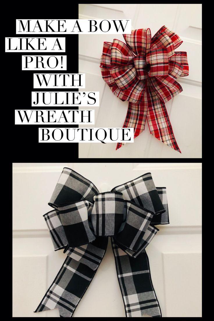 Learn to make a bow like a professional, DIY Bow, Simple Bow, Bow Diy, Wreath Bows, Chr…