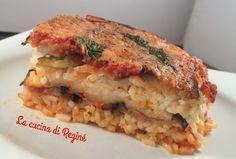 Parmigiana di riso un primo piatto unico delizioso e raffinato, una vera bontà, ottimo gustato tiepido, ma anche freddo è il massimo