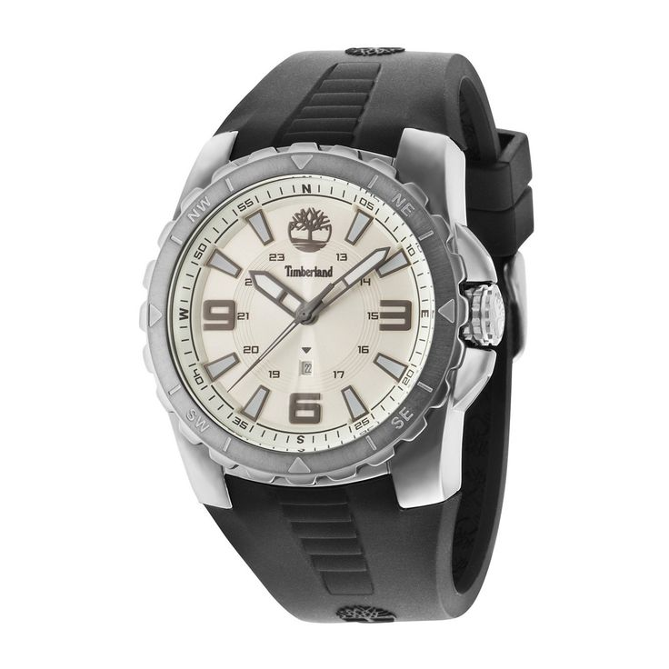 Run your Elegance 365 days a year! Elegance is a mindset BALLARD Black - Timberland watch white dial and black silicone strap - Runit365 your Elegant Men Store  #deluxe #runit365 #silk #menswear #boots
