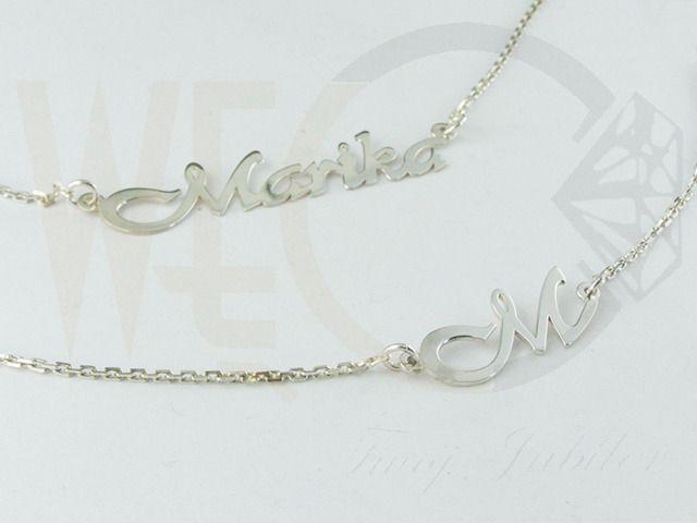 Bransoletka srebrna z Twoim imieniem/ Silver brancelet with your name on it / 118 PLN #jewellery #jewelry #necklace #silver #bizuteria #naszyjnik #srebro